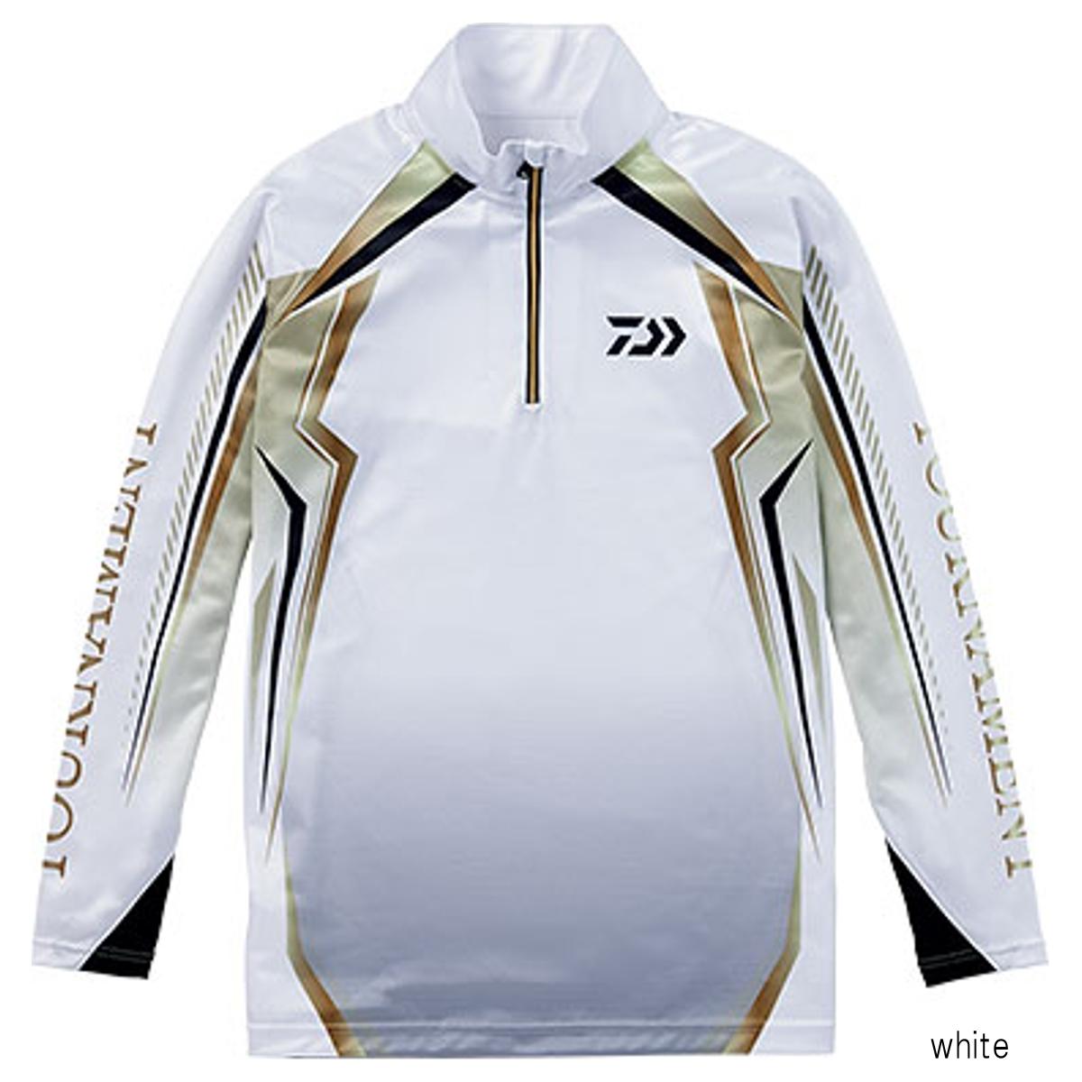 ダイワ トーナメント ドライシャツ DE-77008T M white【送料無料】