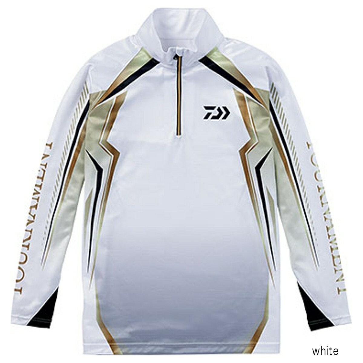 ダイワ トーナメント ドライシャツ DE-77008T L white【送料無料】
