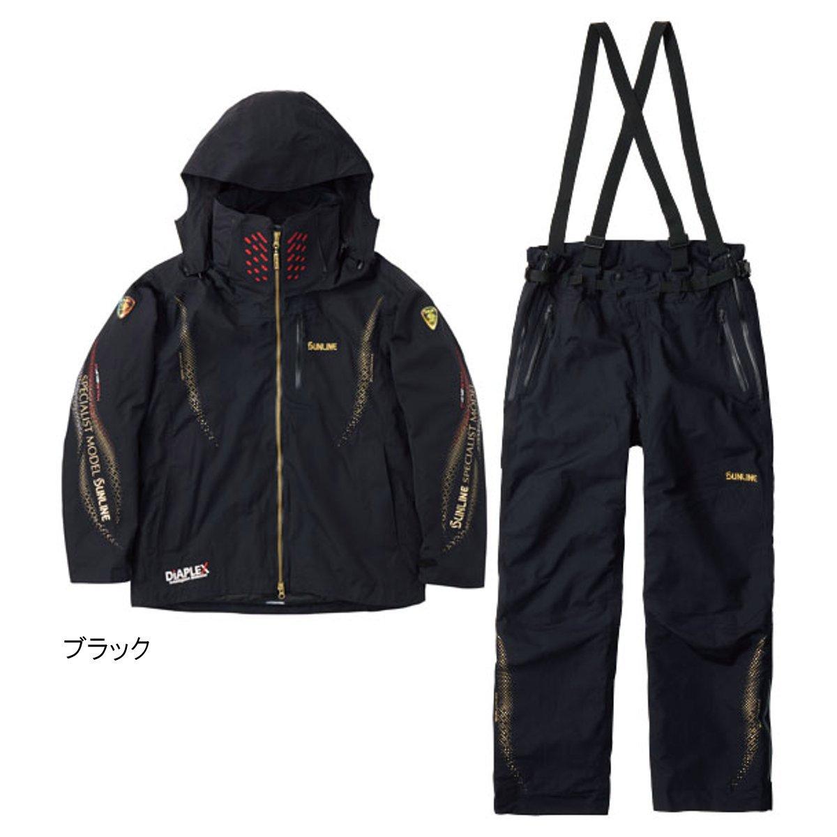 ディアプレックス ウォームアップスーツ SUW-1803 LL ブラック【送料無料】