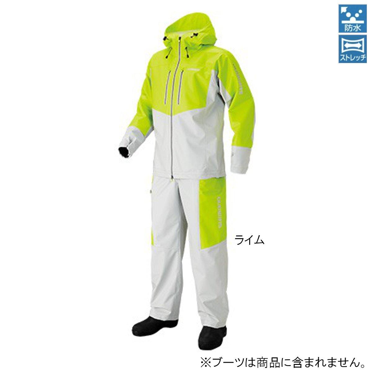 シマノ マリンライトスーツ RA-034N 2XL ライム【送料無料】