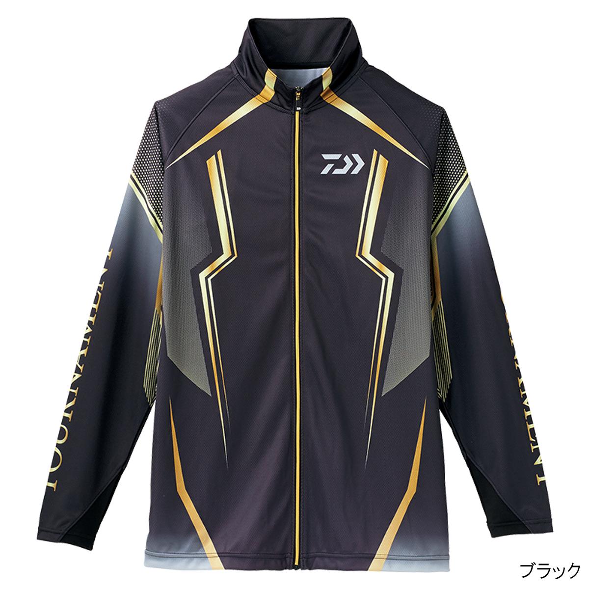 ダイワ トーナメント ドライフルジップ メッシュシャツ DE-73008 XL ブラック