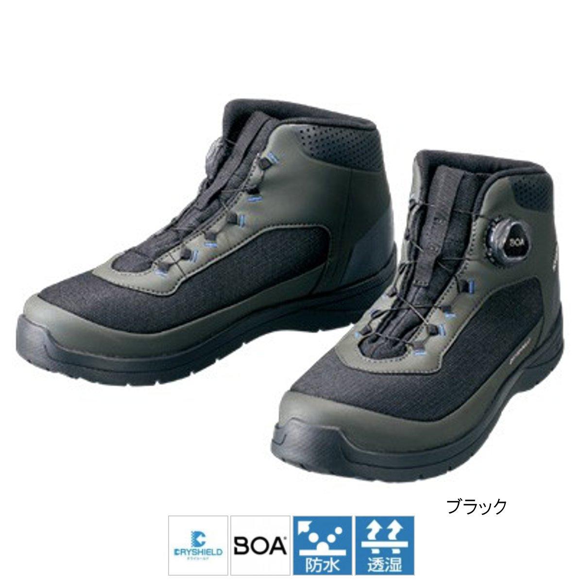 シマノ ドライシールド・デッキラジアルフィットシューズ HW FS-082R 27.5cm ブラック