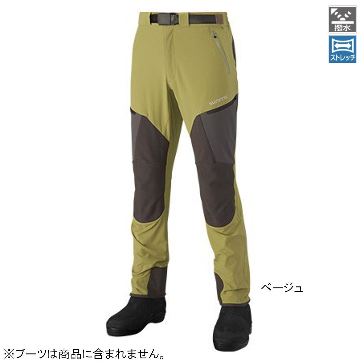 シマノ 撥水ストレッチパンツ PA-041R L ベージュ【送料無料】
