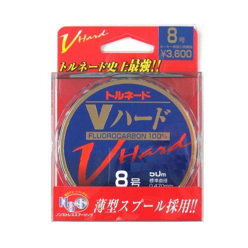 トルネード Vハード 50m 8号 ナチュラルクリア サンライン【ゆうパケット】