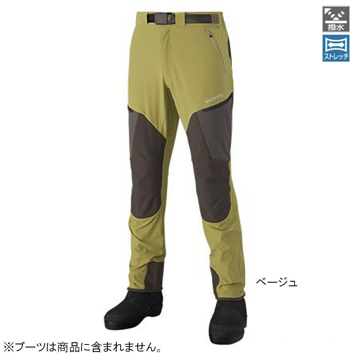 シマノ 撥水ストレッチパンツ PA-041R XL ベージュ【送料無料】