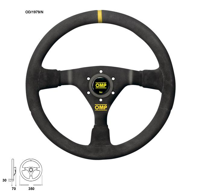 OMP(オーエムピー)ステアリング WRC(ダブルアールシー) OD1979N ブラックスエード&ブラックスポーク
