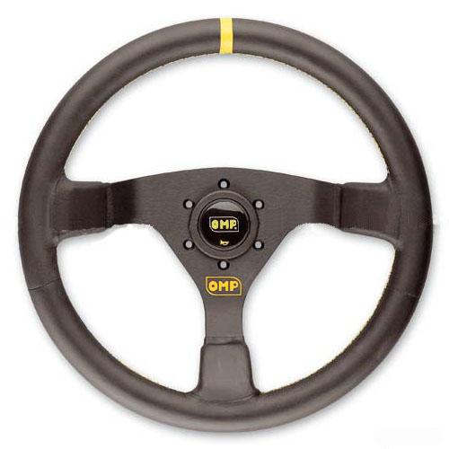 OMP(オーエムピー)ステアリング WRC(ダブルアールシー) OD1980N ブラックレザー&ブラックスポーク