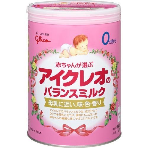 送料無料4個セット アイクレオ バランスミルク 800g粉ミルク アイクレオ グリコ ベビーミルク 新生児用ミルク