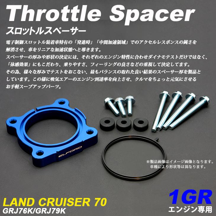 70系/GRJ76K/GRJ79K ランドクルーザー/ランクル 復刻70 1GR エンジン スロットルスペーサー