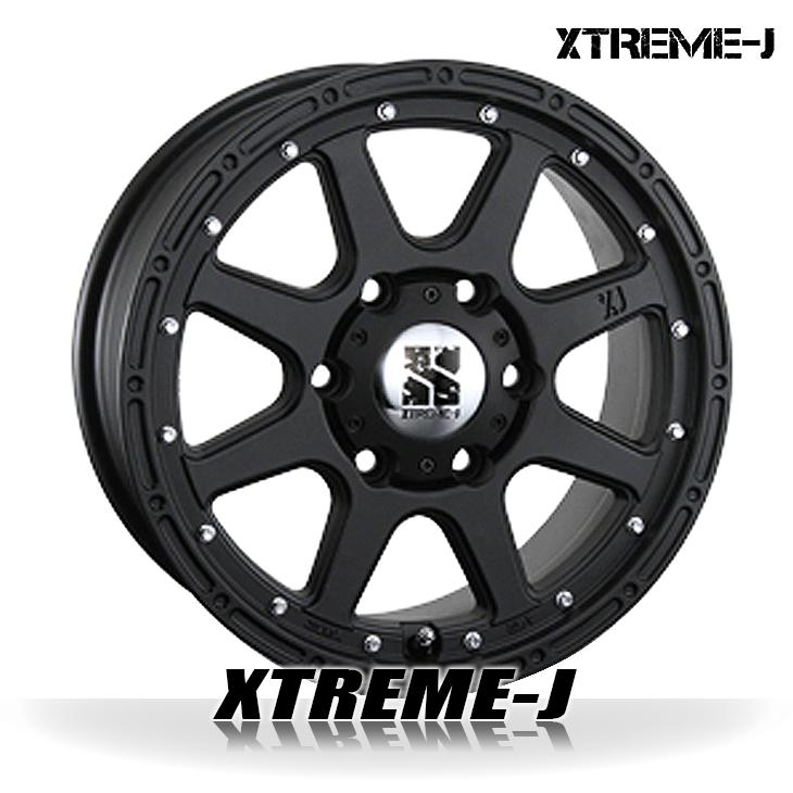 MLJ XTREME-J/エクストリーム-J ホイール フラットブラック 17インチ 7.5J +25 P.C.D-139.7 6穴 4本セット