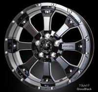 MKW MK-46 7.5J-17 インセット +35 Gloss Black