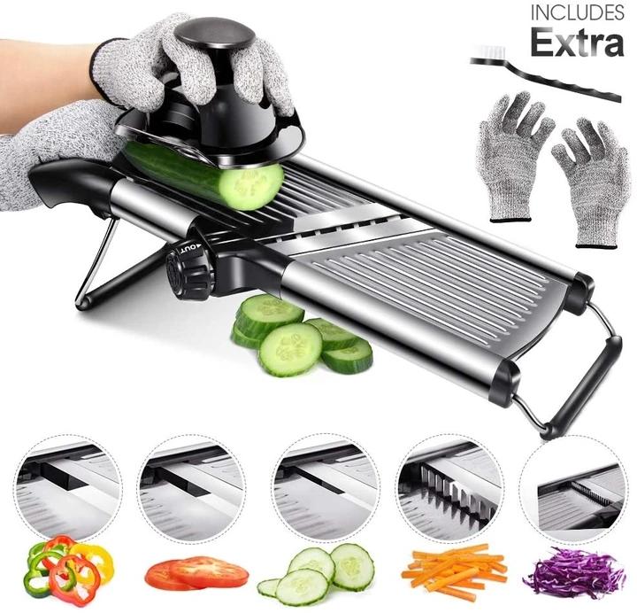 おしゃれ Masthome 野菜スライサー テレビで話題 セット 千切り 細切り 野菜カッター 多機能調理器 スライサー キッチン用品 薄切り みじん切り 調理器セット