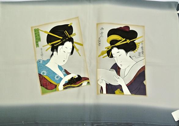 日本の女性画額裏