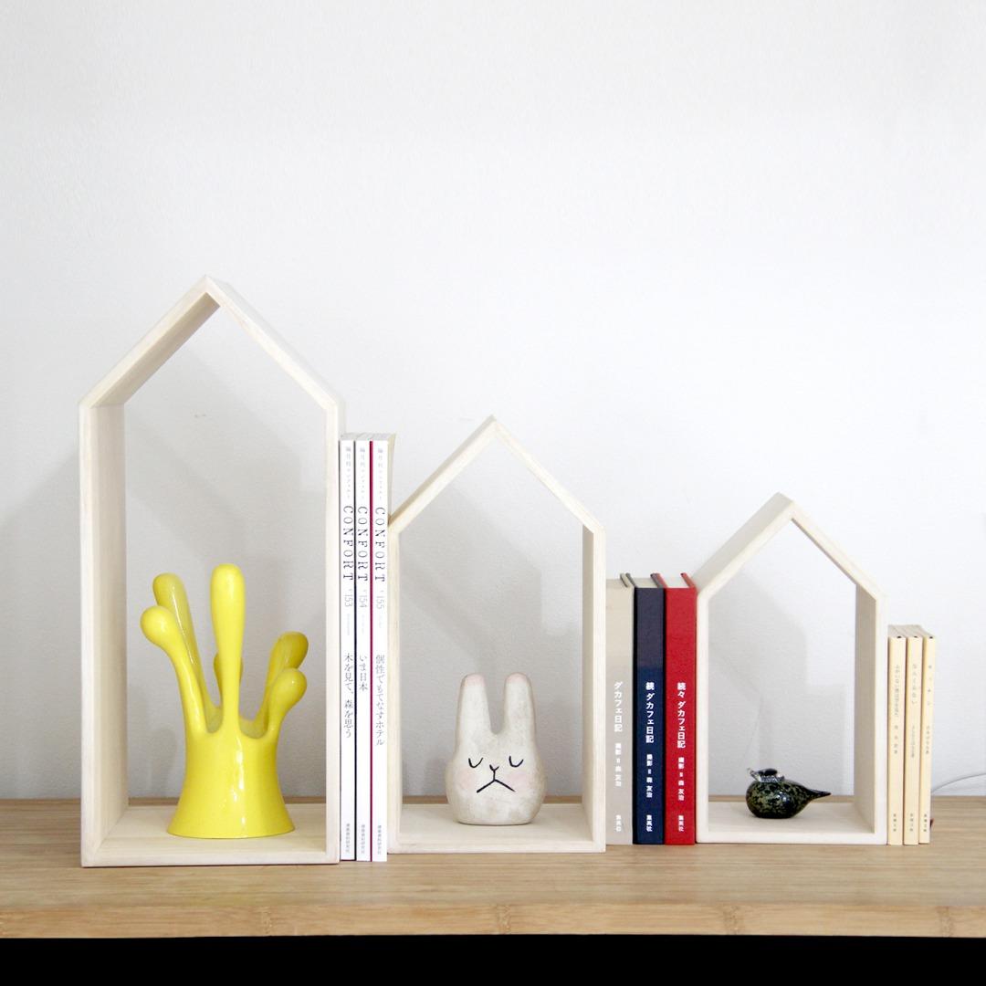 お子様やお孫様への贈り物として 本の家/BookHouseNest/ブックエンド/木製品/本棚/出産祝い/新築祝い/ web物産展
