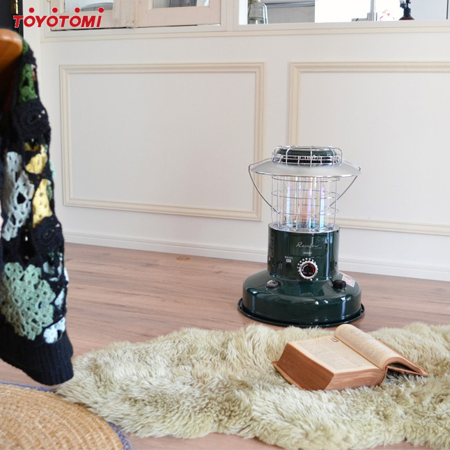 【外箱不良:開梱・未使用・保証付】トヨトミ 対流形 ランタン調 石油ストーブ RL-250(G) ダークグリーン 【沖縄県発送不可】*(FOR USE IN JAPAN ONLY)