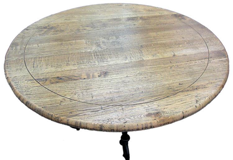 天然木 ダイニングテーブル 直径約129cm 脚:アイアン製 ラウンドテーブル