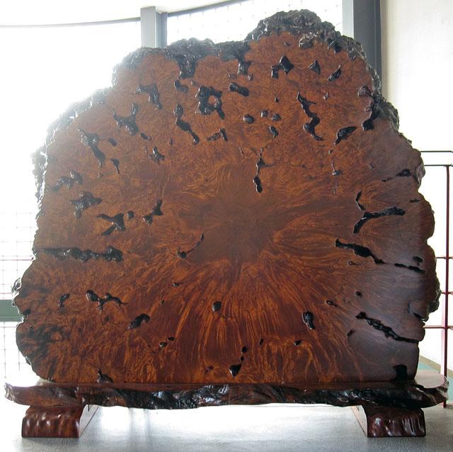 高級 唐木家具 楓 こぶ 衝立 一枚板 高さ約1m70cm 幅約1m85cm 天然木 瘤