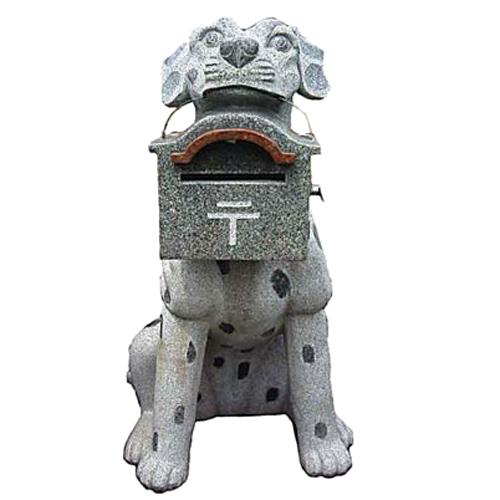 天然御影石彫刻 ダルメシアン ポスト