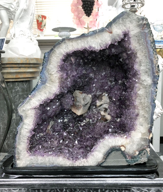天然紫水晶 アメシスト (アメジスト) ドーム 57.4kg(風水) 紫水晶 クラスター