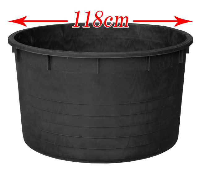 大型プランター!ビッグポット118 (直径118cm×高さ68cm) イタリア製プランター プラスチック ナーセリーポット 黒 植木鉢 ガーデニング