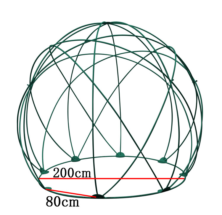 グリーンドーム GD-03 直径2.5mバラのガーデニングに バラアーチ ガーデニング用品 園芸用品 庭園 緑 花 ガーデンファニチャー ローズ イルミネーション フラワードーム アイアンドーム DIY