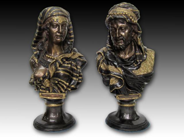 ブロンズ像「王と王妃の像2」胸像