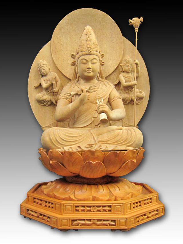 木彫り彫刻・仏像金剛薩埵菩薩