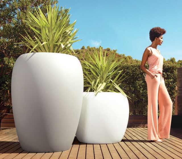 スペイン製デザイナーズプランター ブロー 100/75 (高さ75cm) BLOW VN-55021A ボンドム VONDOM Designers MADE IN SPAIN