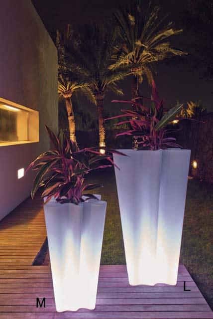 デザイナーズ ライト付きプランター バイバイL (高さ100cm) ボンドム VN-58004W-LE 【屋外仕様】 照明 VONDOM BYE-BYE Light イルミネーション スペイン製 MADE IN SPAIN