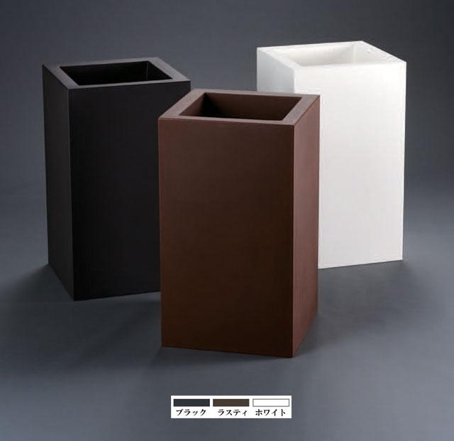 イタリア製デザインプランター キューブ・ハイ ユーロ・スリープラスト ER-2612 Euro 3 Plast Khilia Cube High