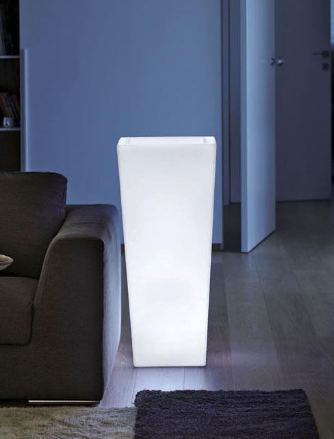 光るプランター キアム40 ライト付き (高さ90cm 幅40cm) ユーロ・スリープラスト ER-2500L 【屋内仕様】 照明 Euro 3 Plast Kiam Light イルミネーション イタリア製 MADE IN ITALY