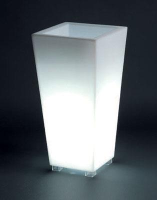 光るプランター カビンハイ・ライト付き (幅35cm×高さ70cm) セラルンガ SD-550-035L 【屋内仕様】 照明 Serralunga Designers Kabin High Light イルミネーション イタリア製