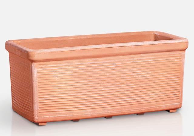 イタリア製プランター 長角ミレリゲ100 (長さ100cm 高さ40cm) セラルンガ 樹脂製 SL-810 Millerighe Rectangle Serralunga MADE IN ITALY