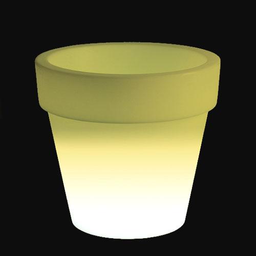 光るプランター ボルダートリスチオ ライト付き (直径110cm×高さ100cm) セラルンガ SL-619L 【屋外仕様】 照明 Serralunga Bordato Liscio Light イルミネーション