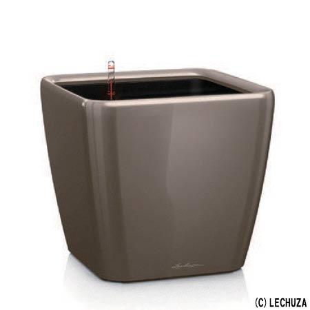 ドイツ製デザインプランター クアドロ ジョーカー 50 (幅50cm 高さ47cm) 底面灌水セット付 QUADRO JOKER LE-2050AJ レチューザ Lechuza Premium MADE IN GERMANY 植木鉢 フラワーポット