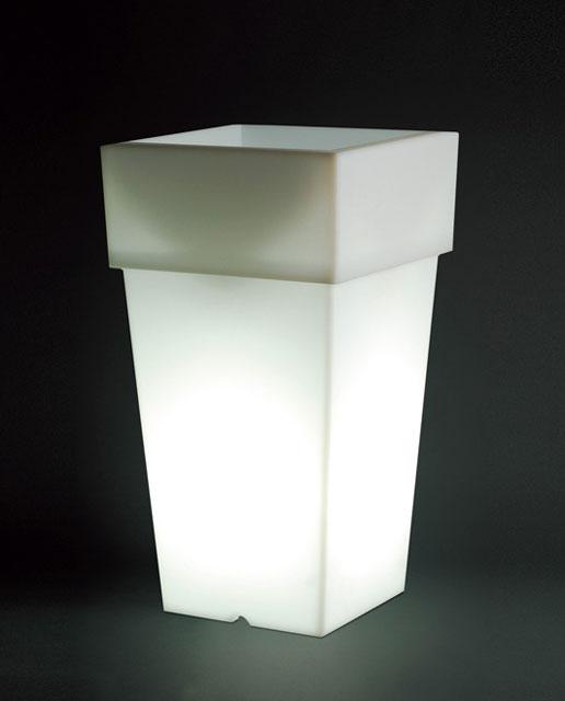光るプランター トーレ ライト付き (高さ100cm) セラルンガ SL-755L 【屋外仕様】 照明 Serralunga Torre Light イルミネーション イタリア製 MADE IN ITALY
