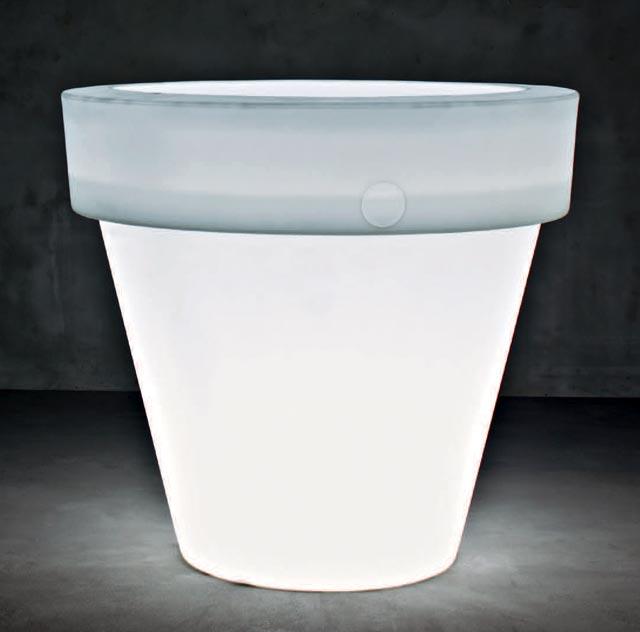 光るプランター バストゥ ライト付き (直径160cm×高さ150cm) セラルンガ SD-900-160L 【屋外仕様】 照明 Serralunga Designers Vas Two Light イルミネーション イタリア製