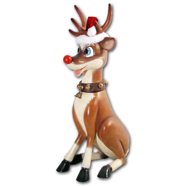 ゆかいなトナカイ / Funny Reindeer強化プラスチック製アート(オブジェ)