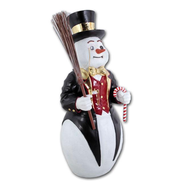 紳士なスノーマン / Snowman強化プラスチック製アート(オブジェ)