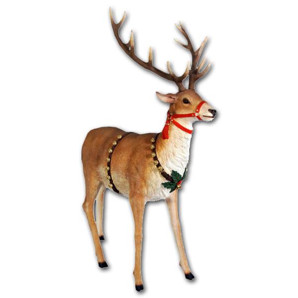 大トナカイ / Reindeer for Sleigh Jumbo強化プラスチック製アート(オブジェ)