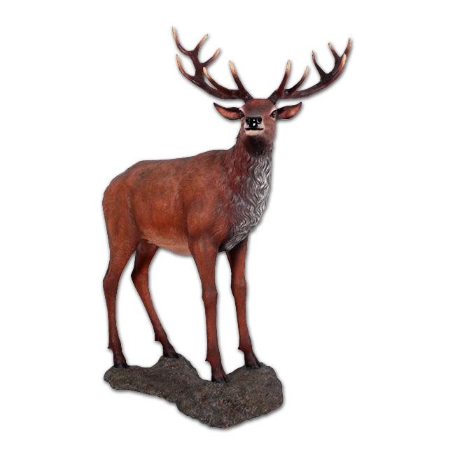 大鹿 / Red Deer Stag on Base強化プラスチック製アート(オブジェ)