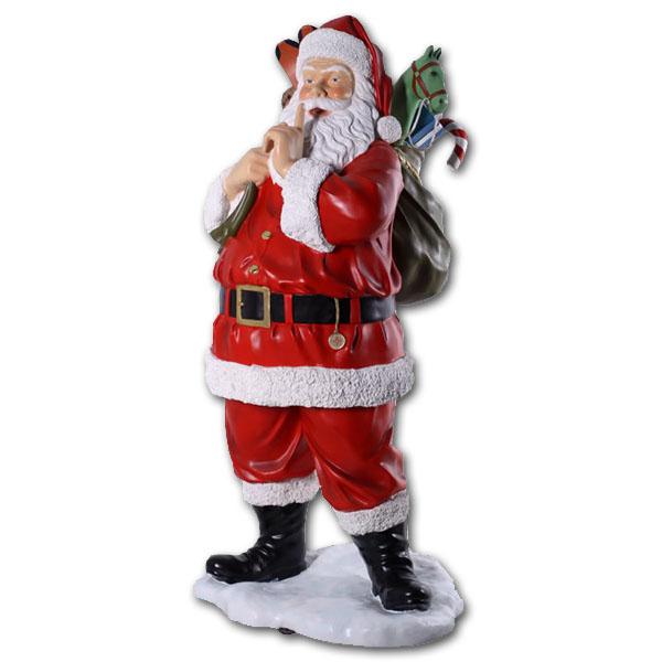プレゼント一杯のサンタ / Santa with Toys 6ft.強化プラスチック製アート(オブジェ)