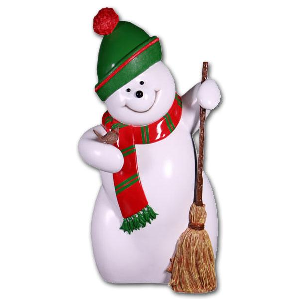 スノーマン・160cm / Snowman 160cm強化プラスチック製アート(オブジェ)