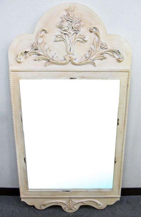 アウトレット ロココ調 ウォールミラー 壁掛け 鏡 (高さ約116.5cm) 玄関 クラシック パロック 様式 吊鏡