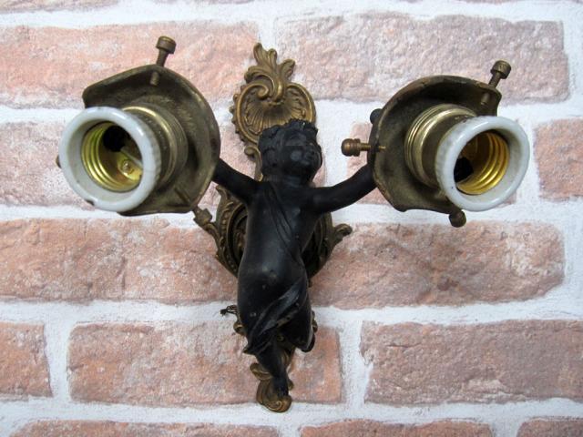 ブラケットエンジェル【1】ブラケット照明 展示品特別販売天使 壁付けライト 間接照明 ウォールランプ アンティーク風 アイアン