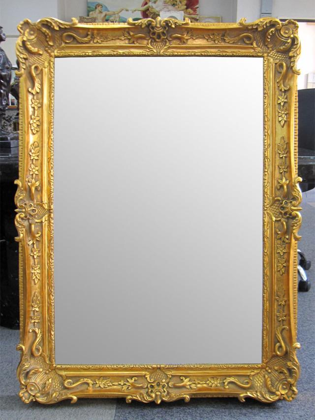 ゴールドミラーゴールドフレームの鏡kabekake