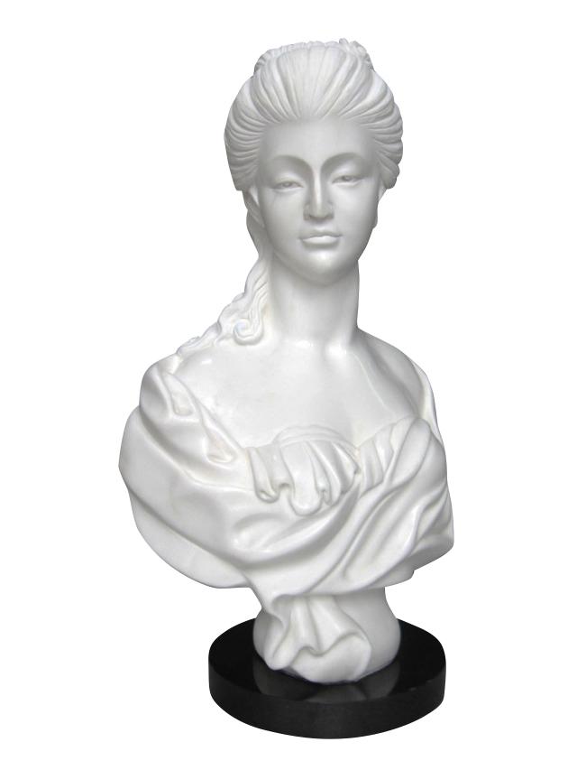 大理石彫刻 女神の胸像A 石像 置物 オブジェ