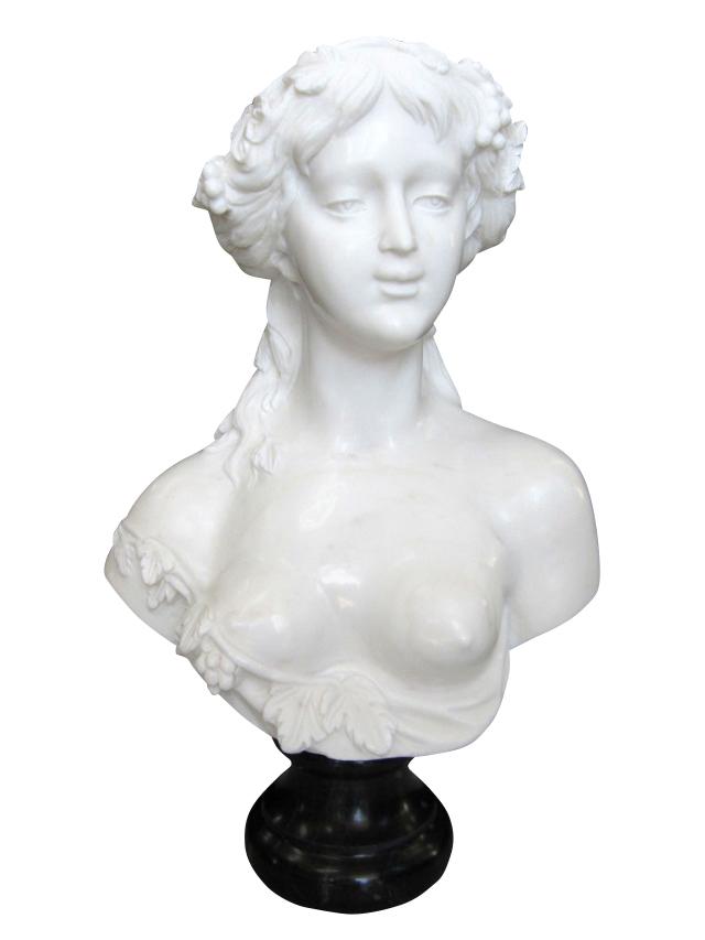 大理石彫刻 ヴィーナスの胸像 石像 置物 オブジェ