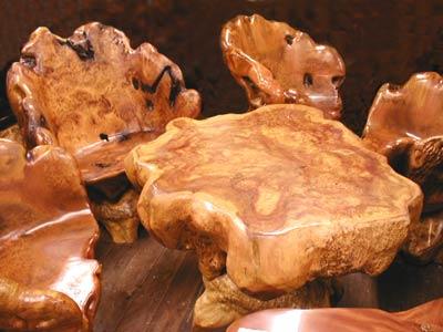 天然楠テーブルセット