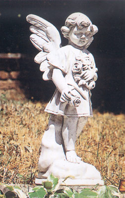 【イタリア製 彫刻】花を持つ天使
